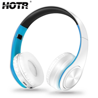 HOTR Bluetooth Headphone Wireless Earphone With Mic LED Light Headset For Mobile Phone MP3 4 PC