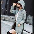 Winter jacket Warm coat Women Winter Coat Big yards Mew style Hooded Pure color High quality Eiderdown cotton Coat BN1203