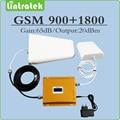 Conjunto completo de Banda Dupla 900 Mhz 1800 Mhz sinal de celular GSM impulsionador repetidor de sinal DCS 65dB 20dBm Amplificador de sinal com display lcd