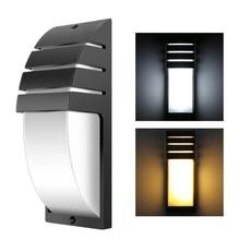 12 Вт светодиодный настенный светильник, водонепроницаемый IP65, современный светильник для крыльца, AC90-260V, для сада, дома, прихожей, ретро светодиодный настенный светильник