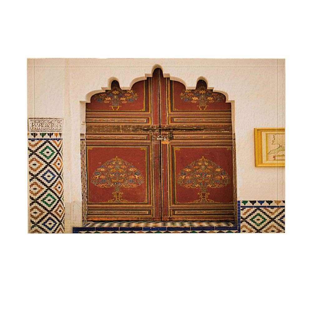 Kitchen Rugs Us 15 85 35 Off Moroccan Architecture Kitchen Rugs Morocco Doorknob On Door Of Temple Non Slip Doormat Floor Entryways Indoor Front Door Mat In Mat