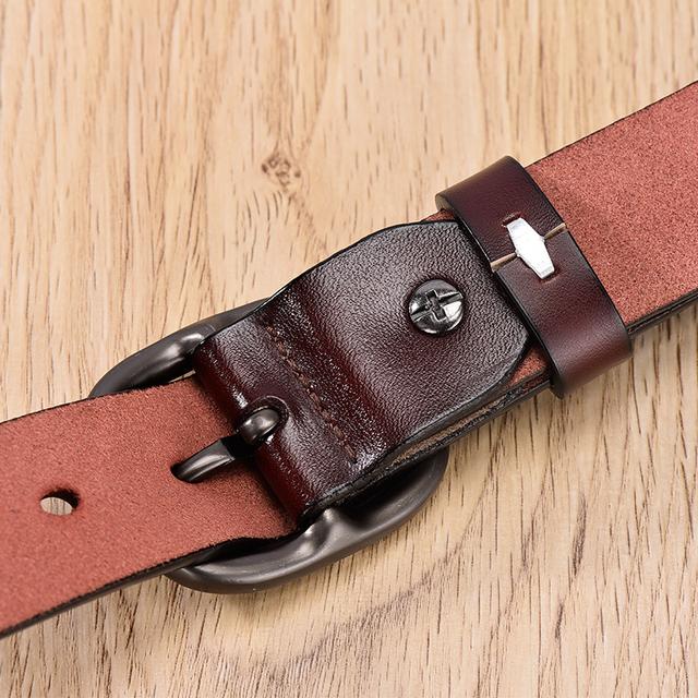 Women's Belt Fashion Women Female Belt Genuine  Leather Belts For Women Female Belt Pin Buckles Fancy Vintage for Jeans