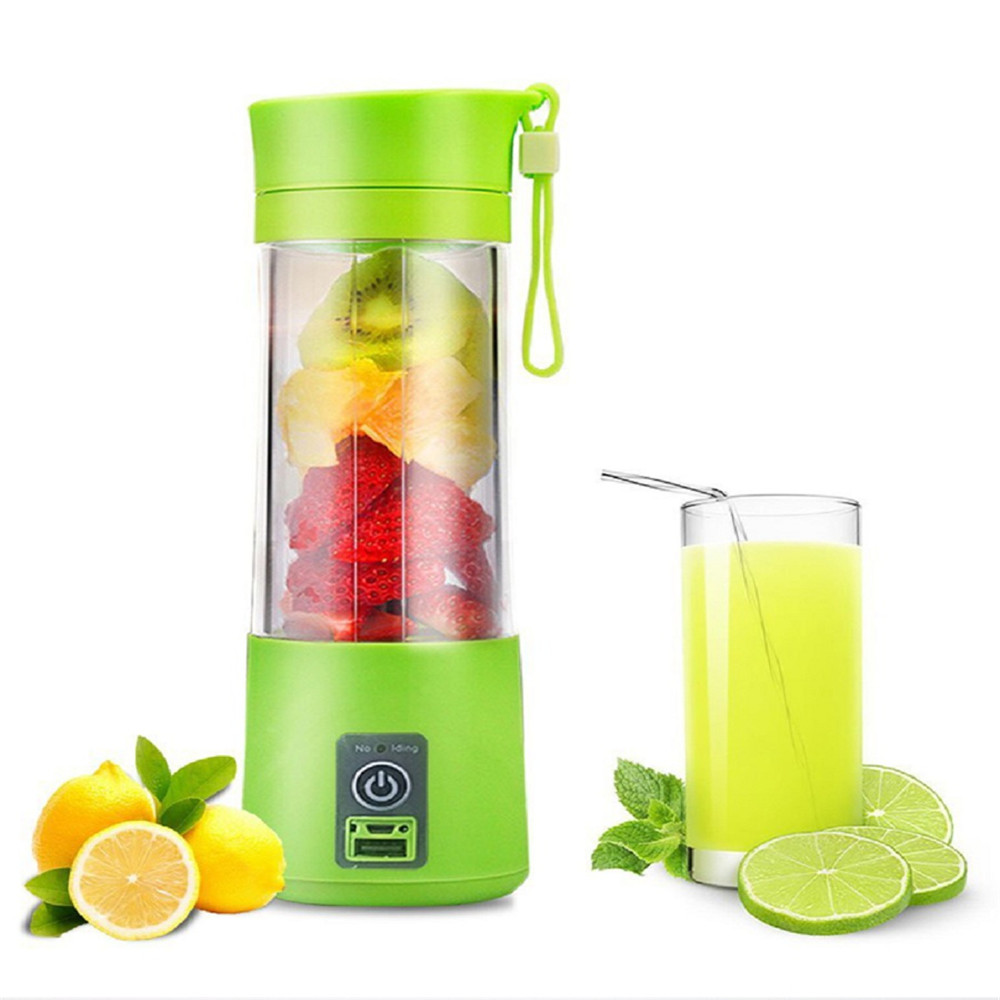 Stainless Steel Mini Juicer Squeezer Household Mixer Portable Blender USB Rechargeable Fruit Juice Extractor Bottle Cup glantop 2l smoothie blender fruit juice mixer juicer high performance pro commercial glthsg2029