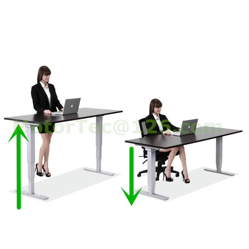 Standing up Electric Height Adjustable desk 110V 220V 50-60HZ input free shipping to Bra ...