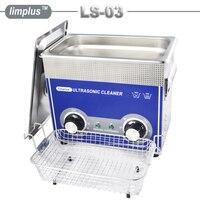 Limplus ультразвуковой очистки 3.2L большая емкость бака Регулируемая мощность очистки ювелирные часы очки плате машина