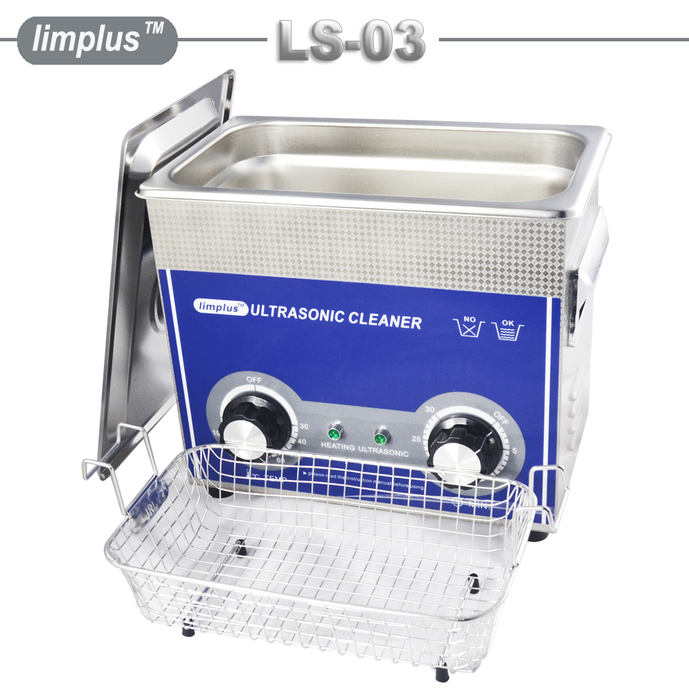 Limplus Ultrasonic Cleaner 3.2L Stor Tank Kapasitet Justerbar Strømrensing Smykker Se Glasses Circuit Board Machine
