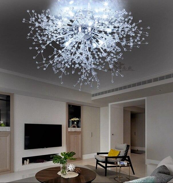 US $107.3 26% OFF|Moderne Löwenzahn LED Unterputz Decken Licht Klar  Kristall Lampe für Küche Schlafzimmer Wohnzimmer Foyer Elegante Leuchte in  ...