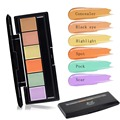 1PC 6 Color Concealer Palette of corrective Face Cosmetic Makeup Neutral Corrector professional Foundation Palette A2
