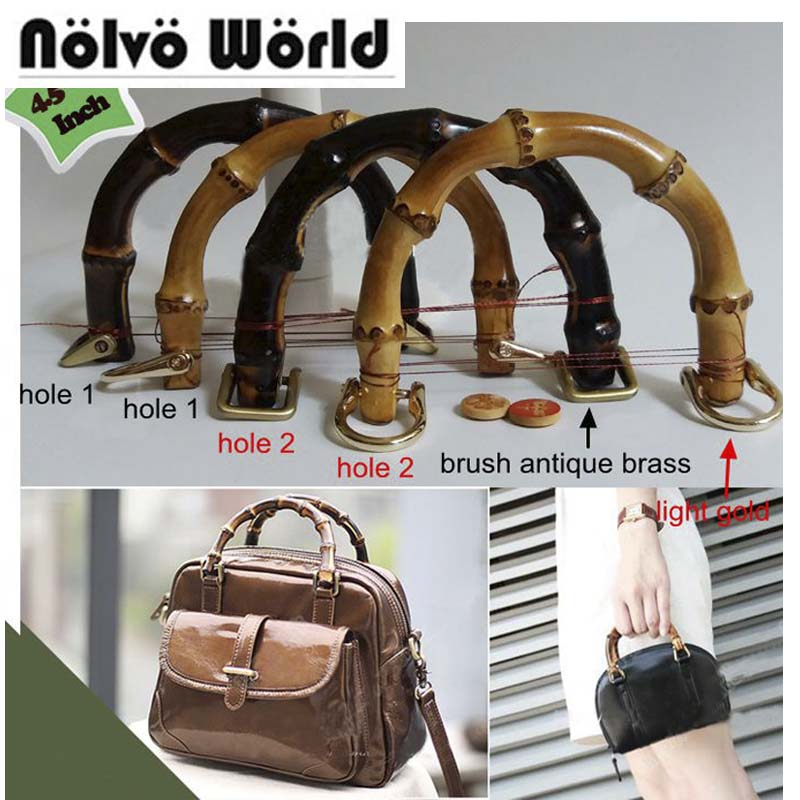 5 pairs=10 pieces,12X9cm Natural bamboo handles for bags replacement,retro hand made knit bag handbags bamboo handle цены
