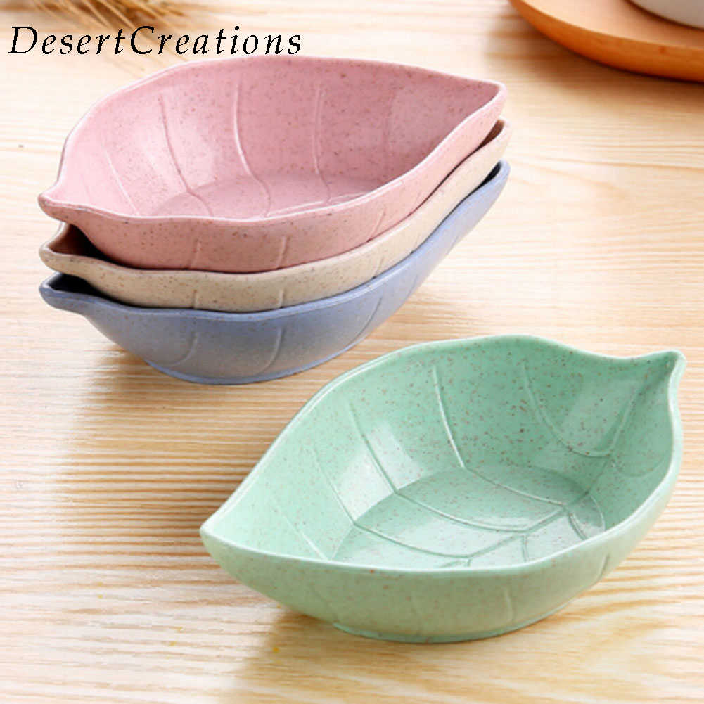 1 pcs Kitchen cutlery tray wheat straw environmental protection small dish plate dish food dish Fruit plate dessert plate