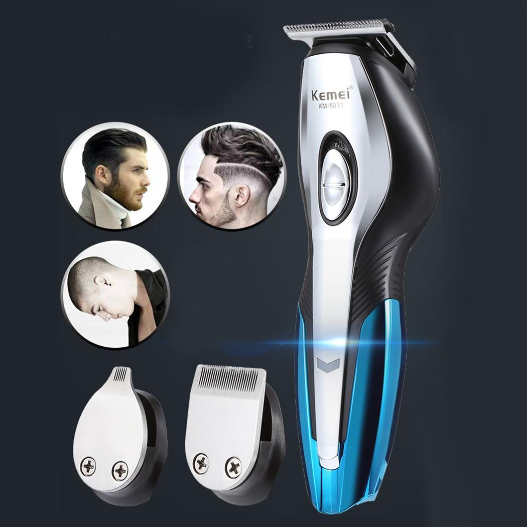 Hommes tondeuse à barbe électrique Rechargeable appareils de cheveux 3 heures tondeuse cheveux 5 W épilation coupe de cheveux