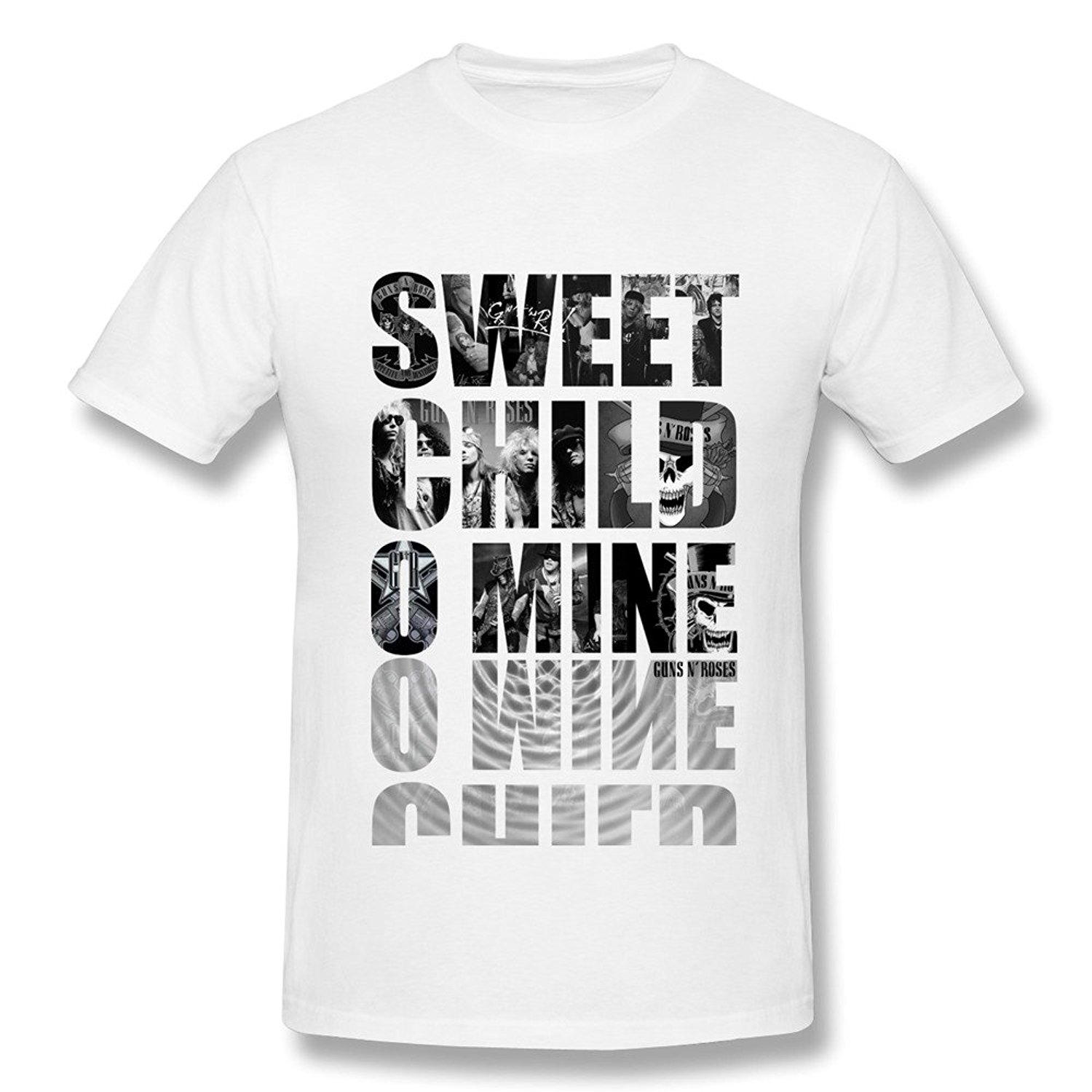 Mens Guns N Roses Sweet Child O Mine Tee Summer White