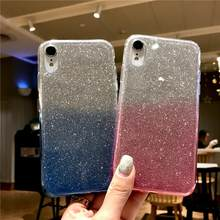 Glitter Rainbow Silicone 2 in 1 Case Voor iphone XR XS X 6 6 s 7 8 Plus LG G5 g6 G7 V10 V20 V30 K8 K10 2017 Q6 Q8 Cover TPU Cases(China)