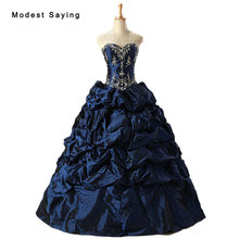 modest saying Luxury Blue Ball Gown Quinceanera Dresses