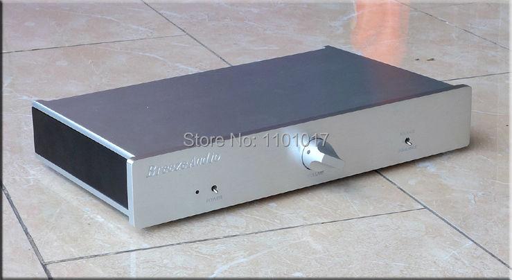Finito nero mini hifi pre amplificatore completamente bilanciato