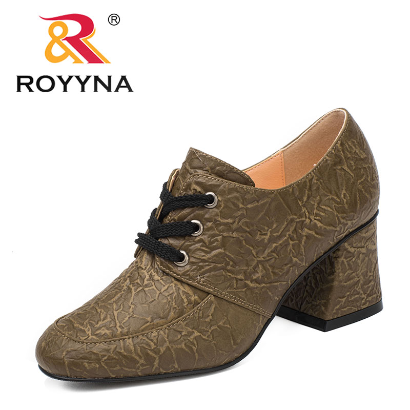 ROYYNA New Fashion Style Women Pumps Lace Up Women Shoes Round Toe Lady Casual Shoes Comfortable Light Soft Fast Free Shipping royyna new sweet style women sandals cover heel summer gingham women shoes casual gladiator ladies shoes soft fast free shipping