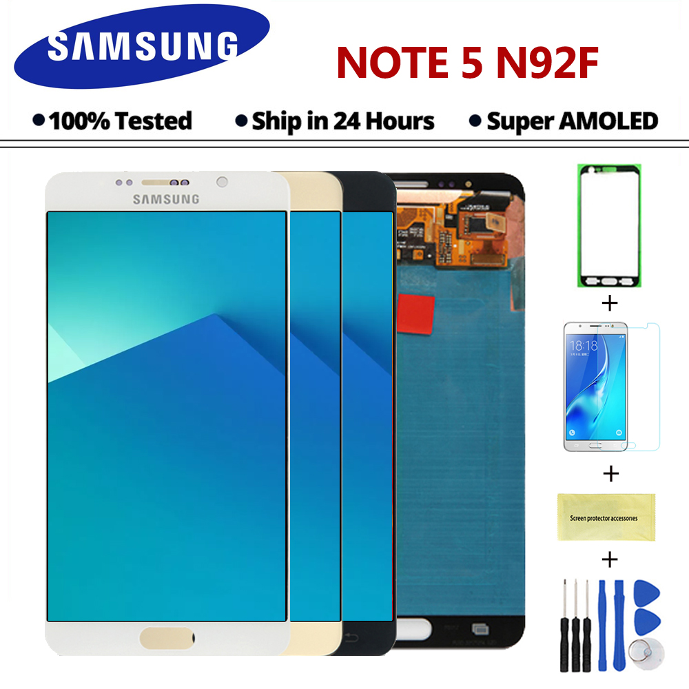 5 7 AMOLED ORIGINAL LCD Display Touch Screen Assembly For Samsung Galaxy Note 5 N9200 N920T