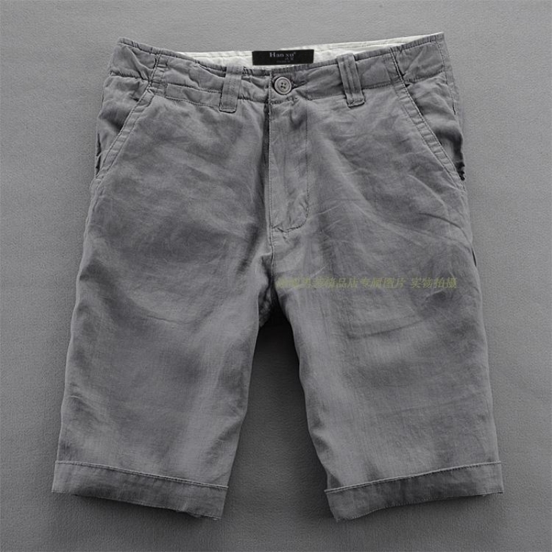 Hot 2018 Summer Male Casual Linen Shorts Upper Drawstring Linen Shorts Comfortable Breathable Beach Shorts Men Imported Trousers