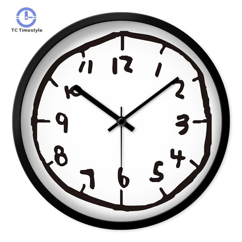 Aliexpress Buy Kids Wall Clock Modern Design Personality