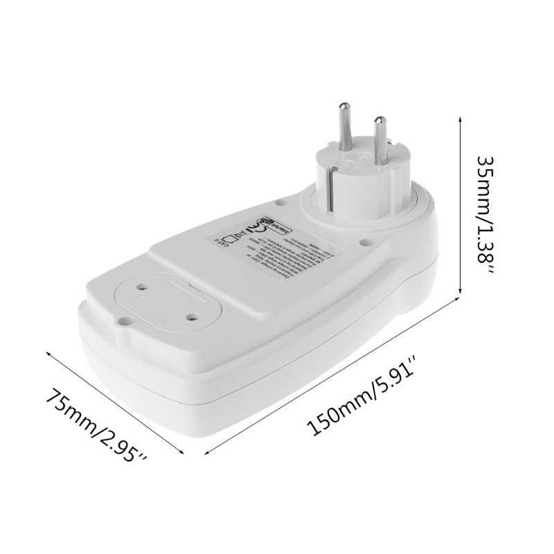 Lcd di Grandi Dimensioni Ue Tester Digitale di Tensione Wattmetro Analizzatore di Consumo di Energia Elettrica di Potenza Digitale Del Tester di Misura di Tensione Nuovo