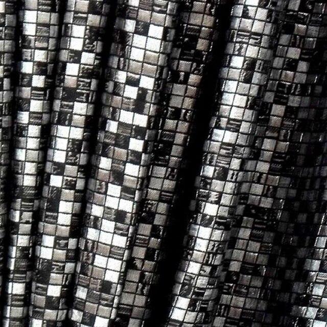Mosaic Grid Black Mark Embroid Curtains Mosained Tiles Curtain Classic Design Elegant Bedroom Hook Style