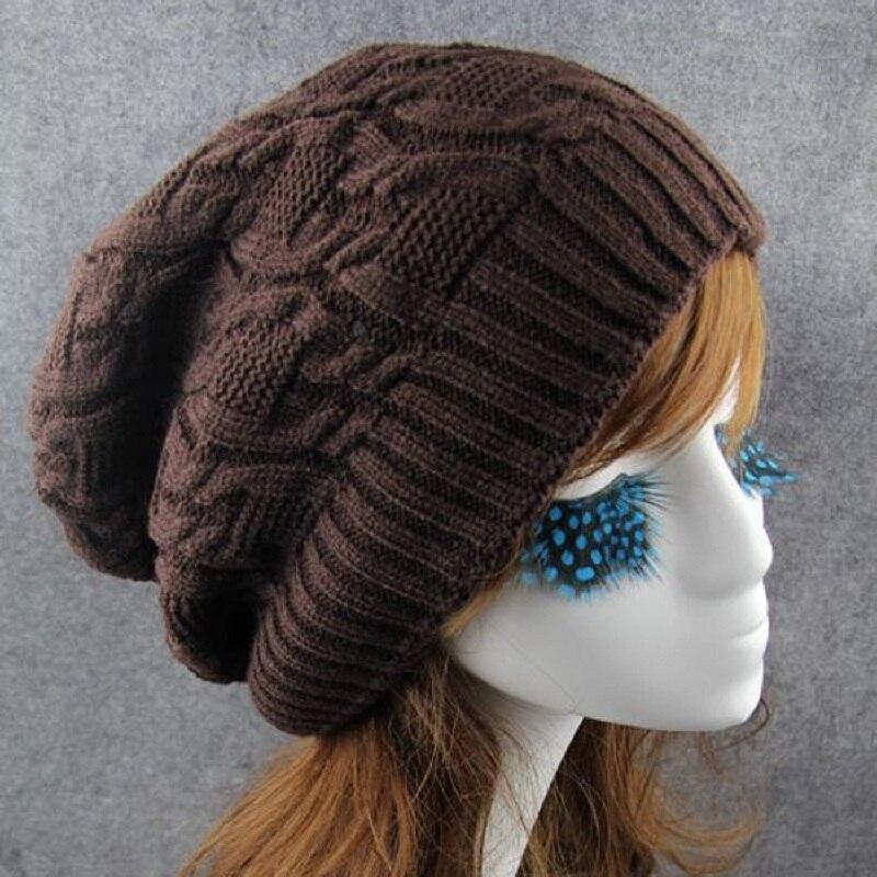 Mens Woolen Knit Cap Fashion Women Hat Winter Skullies Beanies Girls Crochet Braids Hats Casual Autumn Knitted Beanie Warm Caps