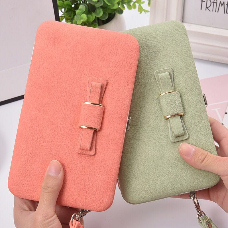 2019 New purse wallet female famous brand card holders cellphone pocket gifts for women money bag clutch in Wallets from Luggage Bags