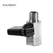 """WALFRONT мини шаровой клапан 1/"""" BSP Женский/мужской воздушные клапаны компрессора латунь хромированный водный топливный контроль инструменты шаровой кран для шланга"""