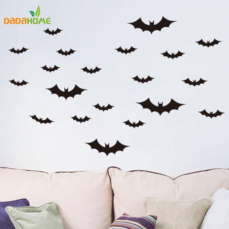 ᗑNueva Halloween murciélago negro etiqueta de la pared decoración ...