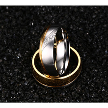 Couple Stainless Steel Promise Rings