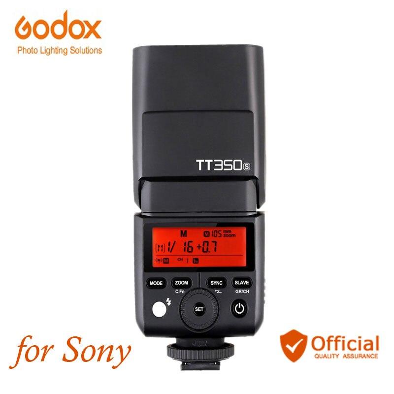 Flash caméra sans fil Godox TT350S Mini Speedlite 2.4G TTL HSS pour Sony DSLR RX10 A6000 A6300 A6500 A7R A7S A7M A7SM II A58 A7