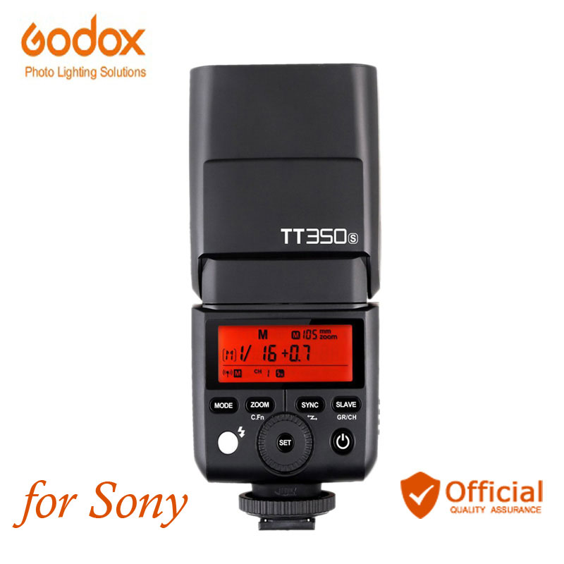 Godox TT350S Mini Speedlite 2.4G Wireless Camera Flash TTL HSS for Sony DSLR RX10 A6000 A6300 A6500 A7R A7S A7M A7SM II A58 A7 godox mini speedlite tt350s tt350n tt350c tt350o camera flash ttl hss for sony mirrorless dslr camera a7s a6000 a6500 series