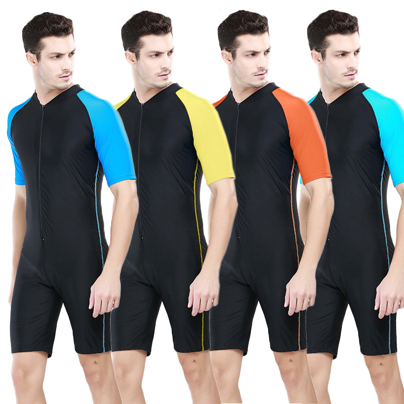 2add1258e4 SBART Men's One Pieces Diving Suit Swimwear Kite Surfing Swimming Rashguard  Swimsuit Short Sleeve UV Protection Wetsuit-in Wetsuit from Sports ...