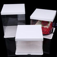 4 Sets For 12 Inch Clear Cake Packing Boxes Plastic Bakery Storage Holder Muffin Pod Dome