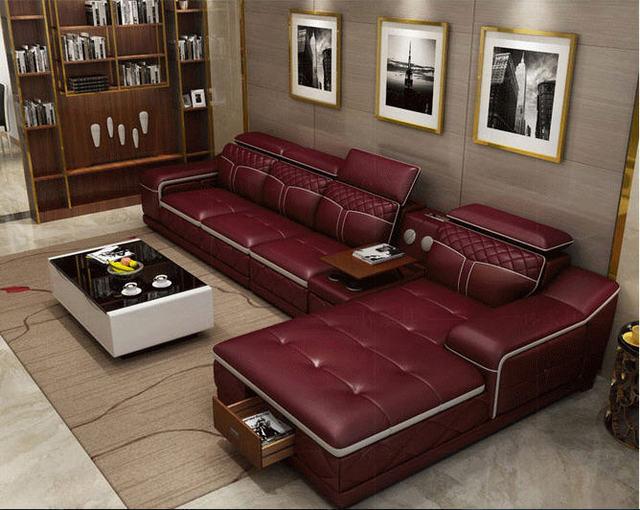 Tan Leather Living Room SofaFurniture Set  6