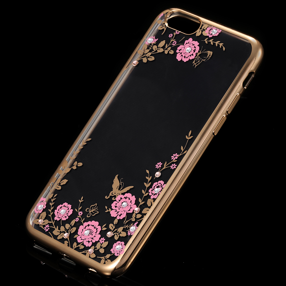 FLOVEME Phone Case For iPhone 8 7 6 6S Plus 5 5S SE Cases Flower Diamond  Clear Silicone Cover For iPhone 8 7 iPhone 6 6S Fundas-in Fitted Cases from  ... 06a07e4670c1a