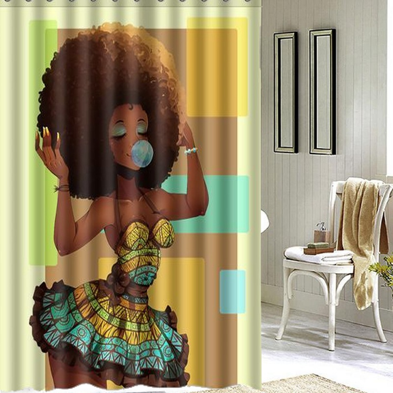 Online get cheap african shower curtain for African bathroom decor