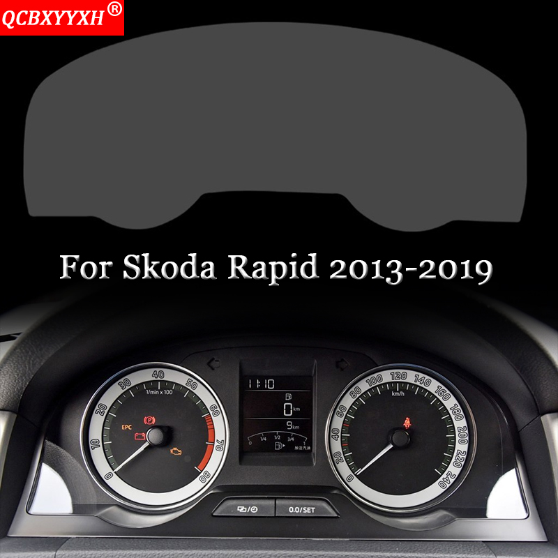 Car Styling Car Dashboard Paint Protective Film Sticker Light Transmitting Automobiles Accessories For Skoda Rapid 2013-2019
