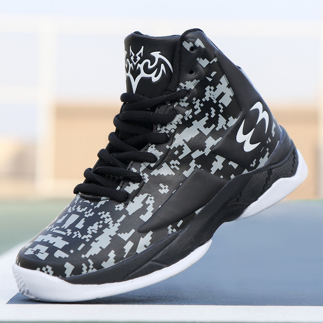 2018 New Unique Print Style Boys Basketball Shoes Kids Sneakers