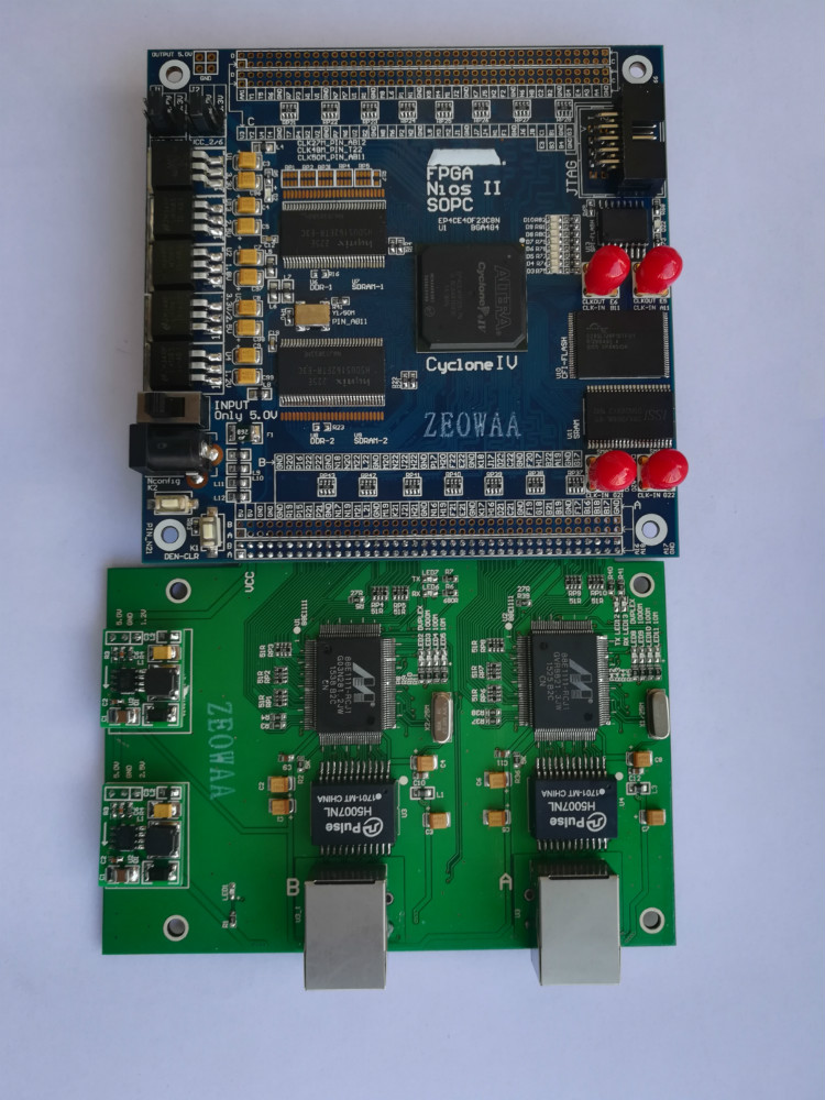 RJ45 88E1111 1000M Ethernet+ USB Blaster+ALTERA FPGA Cyclone IV EP4CE40F23C8N Development Board fpga development board