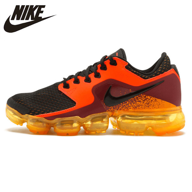 d2d25a0589 ... purchase nike air vapormax mens running shoes orange black shock  absorbing wear resistant 78905 2e756