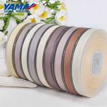 YAMA 50 57 63 75 89 100mm 100 yards/lot Dark Brown Series Grosgrain Ribbon Diy Dress Accessory House Wedding Decoration Ribbons