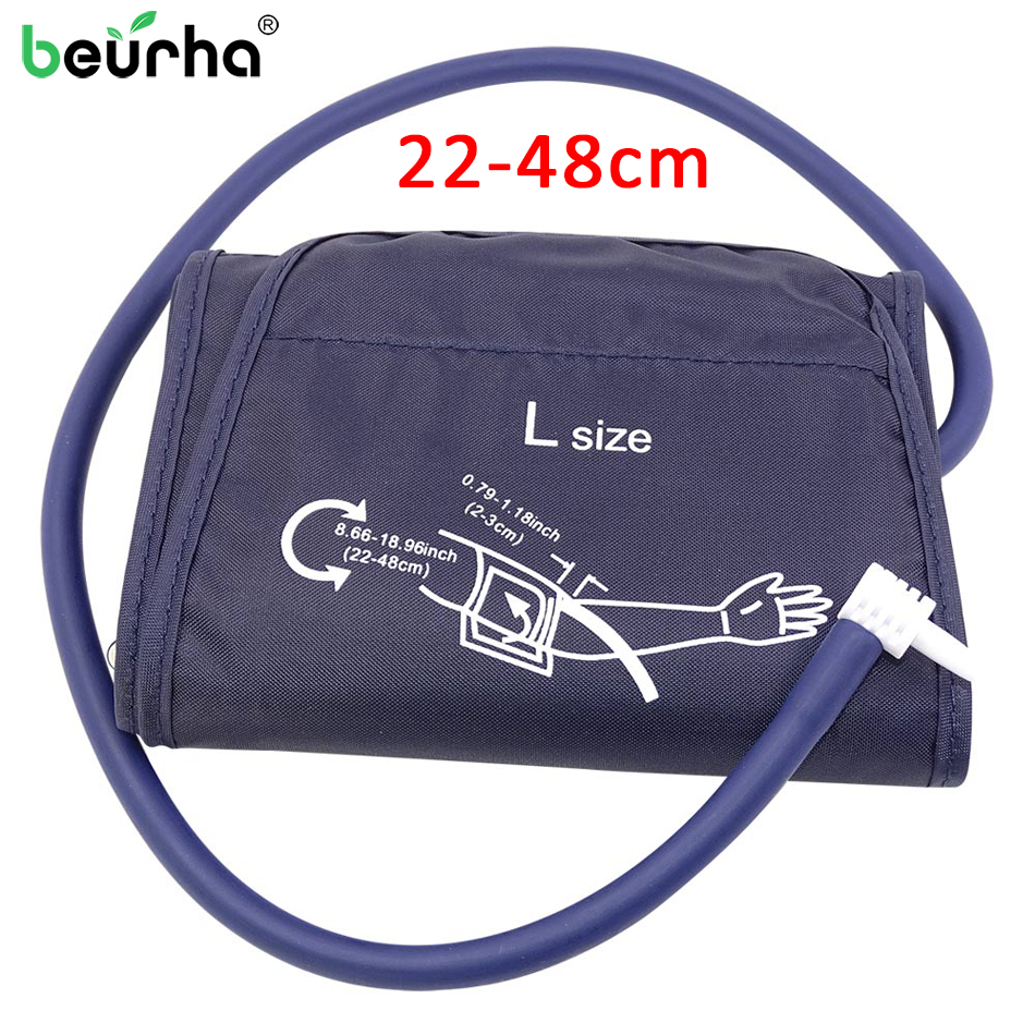 1PC Blood Pressure Monitor Cuff 32/48CM Adult Arm Single-tube Sphygmomanometer Arm Cuff Nylon Oxford Patient Monitor Nibp Cuff(China)