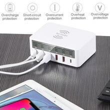 Asunflower 5 Port USB QC 3.0 Fast Wireless Charging Station Wall For Iphone Ipad Splitter Rapid Socket Desktop Hub