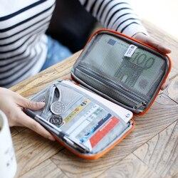 Novo à prova dhandy água acessível viagem cartão de identificação carteira passaporte capa carteira bolsa organizador saco titular do cartão de crédito bolsa de armazenamento de viagem