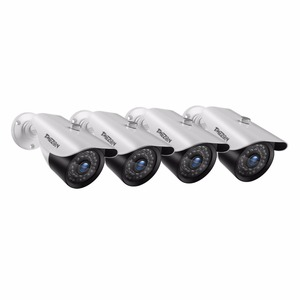 Image 1 - Tmezon 4 Pack/Set HD 1080 P Sistema de Câmera de Vigilância de Segurança Em Casa Ao Ar Livre Cam À Prova D Água Com Adaptador de Energia 60FT Cabo Estendido