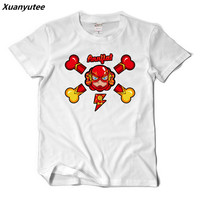 Xuanyutee Orignal Design New The Flash T shirt Homme Lover Cotton Short Sleeve O neck Print T shirt Men Summer Casual Fit EU 2XL