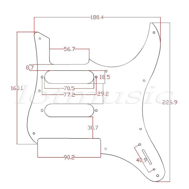 yamaha pacifica 112v wiring diagram chevy truck diagrams 1994 online shop 2 pcs electric guitar pickguard for replacement 3ply black