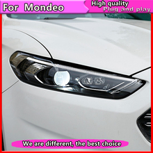 Car Styling for Ford Mondeo 2013-2015 LED Headlight for New Fusion  Head Lamp Dynamic turn signal LED DRL Bi-Xenon HID