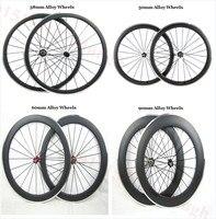 גלגלי אופני כביש פחמן 38 מ